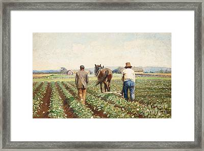 Cultivating Potatoes Framed Print by Severin Nilson