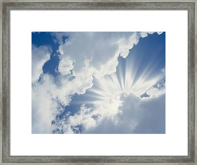 Cumulus Clouds In The Sky Framed Print by Panoramic Images