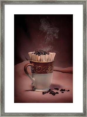 Cup Of Hot Coffee Framed Print by Tom Mc Nemar