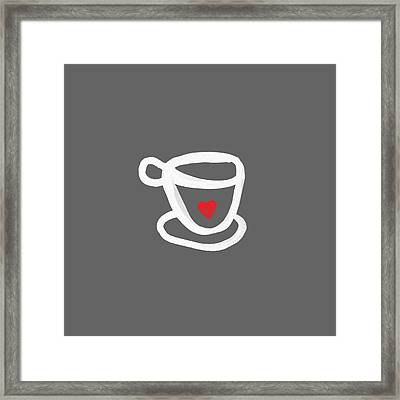 Cup Of Love- Shirt Framed Print by Linda Woods