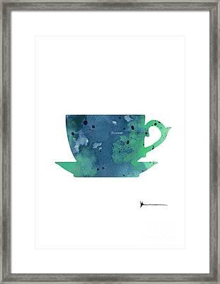 Cup Of Tea Painting Watercolor Art Print Framed Print by Joanna Szmerdt