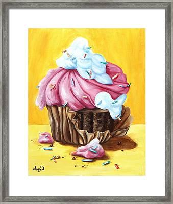 Cupcake Framed Print by Maryn Crawford