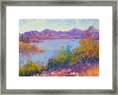 Cupcake View Framed Print by Terry  Chacon