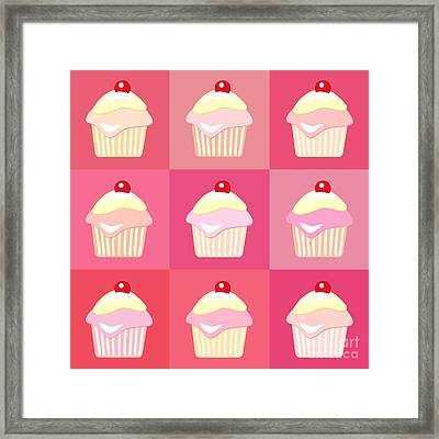 Cupcakes Pop Art  Framed Print by Jane Rix