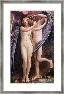 Cupid And Psyche Framed Print by Annie Louisa Swynnerton