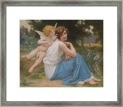 Cupid And Psyche Framed Print by Guillaume Seignac