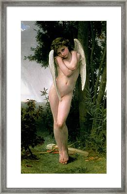 Cupidon Framed Print by William Adolphe Bouguereau
