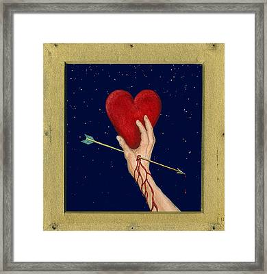 Cupids Arrow Framed Print by Charles Harden