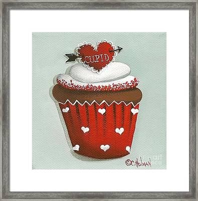 Cupid's Arrow Valentine Cupcake Framed Print by Catherine Holman