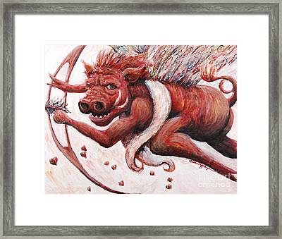 Cupig Framed Print by Nadine Rippelmeyer