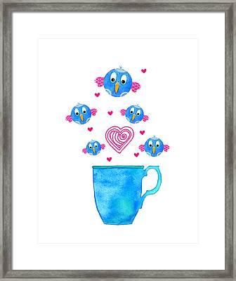 Cuppa Series - Birdie Java Framed Print by Moon Stumpp