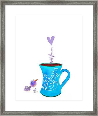 Cuppa Series -cuppa Happy Framed Print by Moon Stumpp