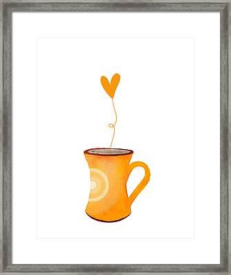 Cuppa Series - Cuppa Sunshine Framed Print by Moon Stumpp