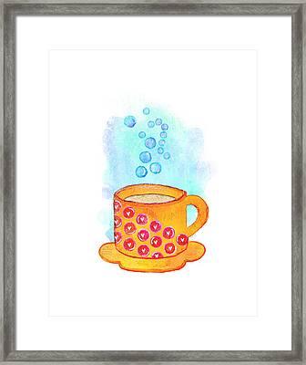 Cuppa Series - Latte Framed Print by Moon Stumpp