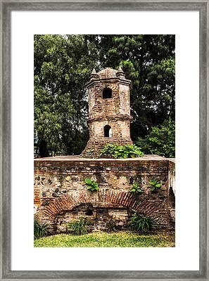 Cupula Ciudad Vieja Framed Print by Totto Ponce