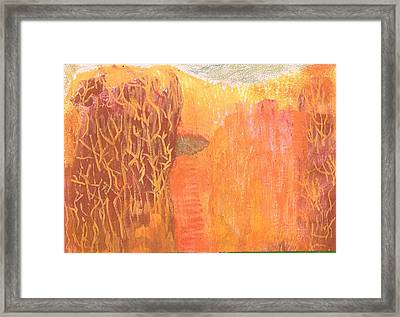 Curious Cove Framed Print by Anne-Elizabeth Whiteway
