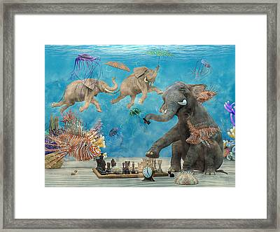 Curious Ocean Framed Print by Betsy Knapp
