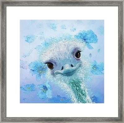 Curious Ostrich Framed Print by Jan Matson