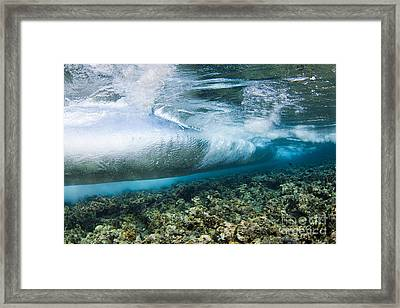 Curl Of Wave From Underwater Framed Print by Dave Fleetham - Printscapes