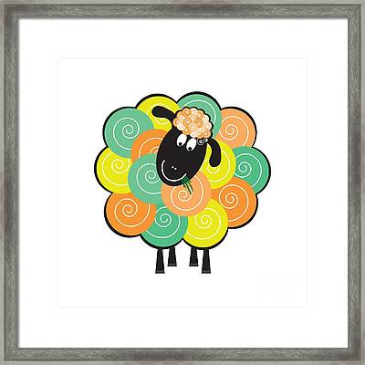 Curlier The Sheep Framed Print by Natalie Kinnear
