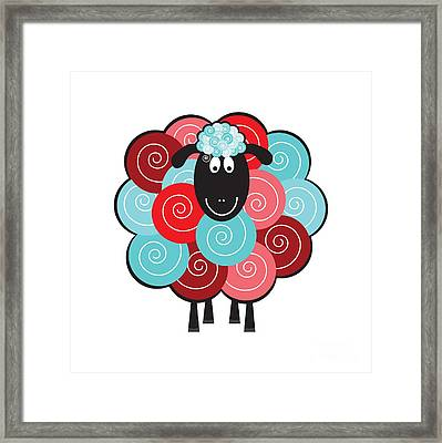 Curly The Sheep Framed Print by Natalie Kinnear