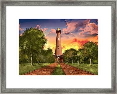 Currituck Beach Lighthouse 3 Framed Print by Bekim Art