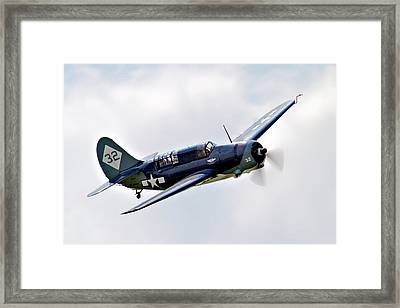 Curtiss Helldiver Framed Print by Bill Lindsay