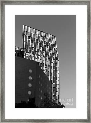 Curves In Hamburg Mono Framed Print by John Rizzuto