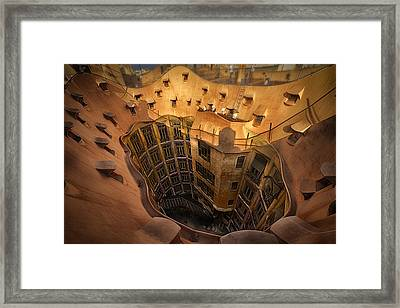 Curves Of Gaudi Framed Print by Kurt Hansen