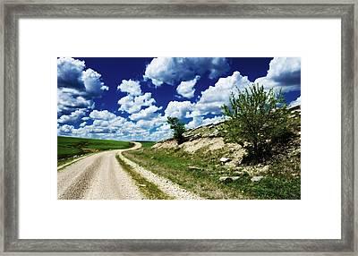 Curving Gravel Road Framed Print by Eric Benjamin