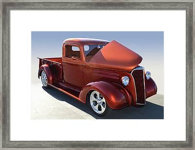 Custom 37 Chevy Pickup Framed Print by Bill Dutting