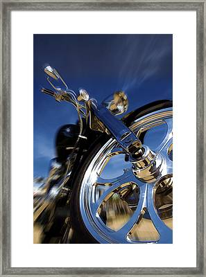 Custom Chopper Framed Print by Ricky Barnard