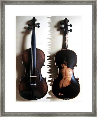 Custom Gliga Violin 2 Framed Print by Dino Muradian