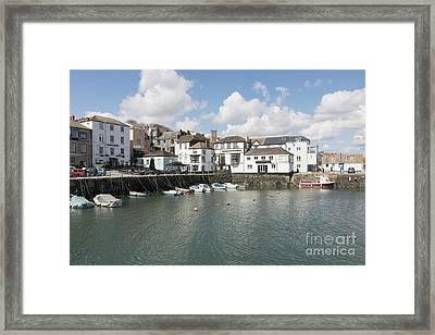 Custom House Quay And Falmouth Parish Church Framed Print by Terri Waters