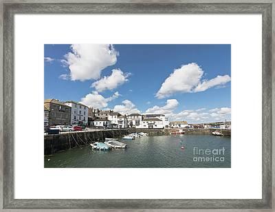 Custom House Quay Falmouth Cornwall Framed Print by Terri Waters