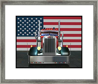 Custom Peterbilt 2 Framed Print by Stuart Swartz