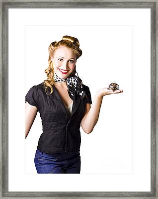 Customer Service With Smile Framed Print by Jorgo Photography - Wall Art Gallery