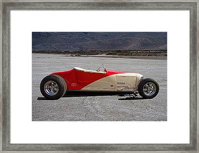 Customized T Bucket On Salt Flats Framed Print by Nick Gray