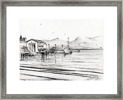 Customs Boat At Oban Framed Print by Vincent Alexander Booth