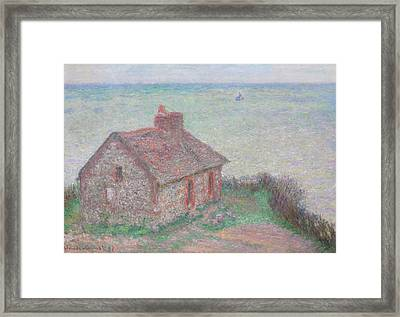 Customs House Framed Print by Claude Monet