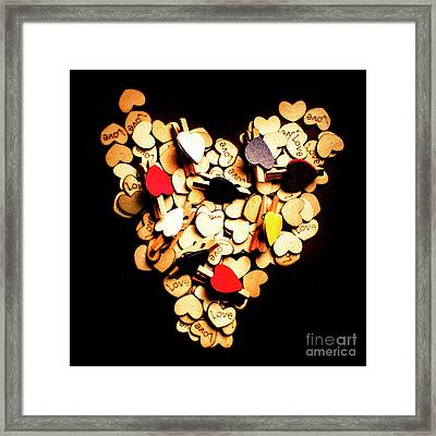 Cute Button Love Framed Print by Jorgo Photography - Wall Art Gallery
