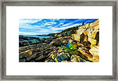 Cutler Coast At Fairy Head Framed Print by Bill Caldwell -        ABeautifulSky Photography
