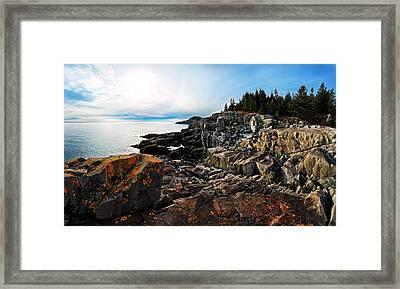 Cutler Coast Stillness Framed Print by ABeautifulSky Photography