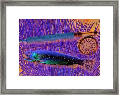 Cuttin' The Grass Framed Print by Mark Jennings