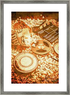 Cutting A Scene Of Vintage Film Framed Print by Jorgo Photography - Wall Art Gallery