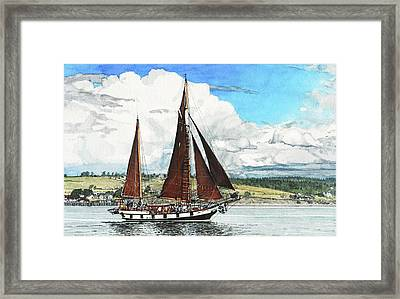 Cutty Sark Framed Print by Perry Woodfin