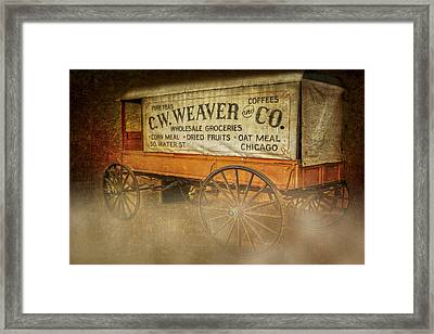 C.w. Weaver And Co. Wagon Framed Print by Susan Candelario