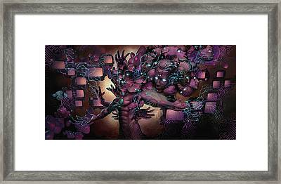 Cyberspatial Telepathy Framed Print by George Atherton
