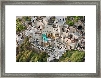 Cycladic Architecture Framed Print by Edwin Verin
