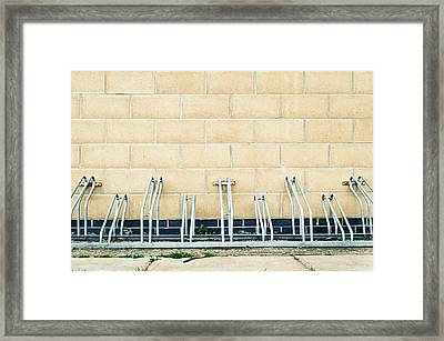 Cycle Racks Framed Print by Tom Gowanlock